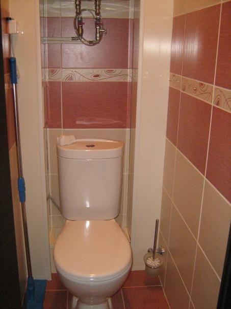Плитка в туалете своими руками
